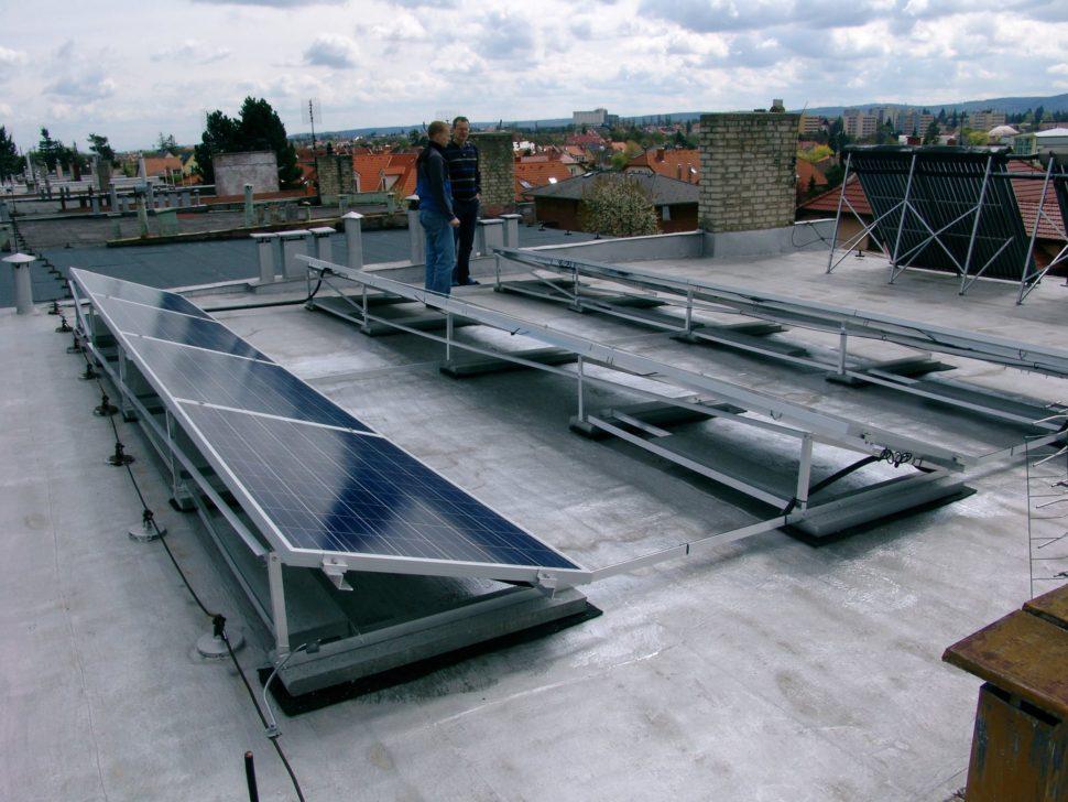 fotovoltaika narovné střeše naRD